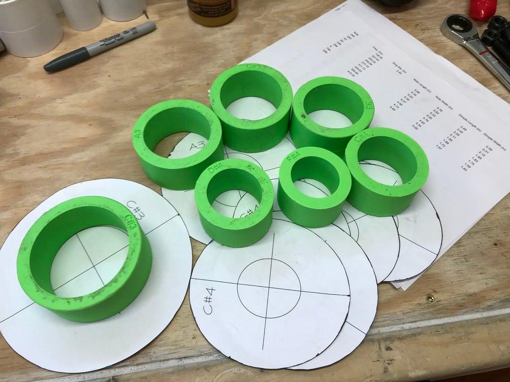 ساخت هنگ درام - اندازه قالب ها